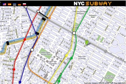 Nyc subway map my route