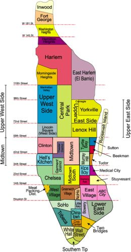Neighborhood Map of Manhattan