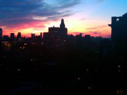 New York City Sunset View from Roof Deck
